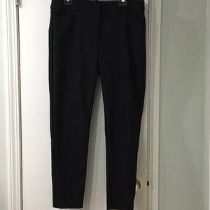 LOFT curvy skinny ankle pants in black